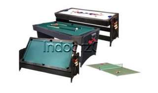 POCKEY 3 IN 1 AIR HOCKEY BILLIARDS POOL TABLE PING PONG
