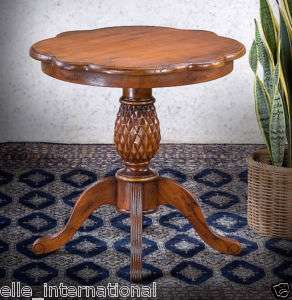 Antique Mahogany Pineapple Side Table Hand Made NEW WOW