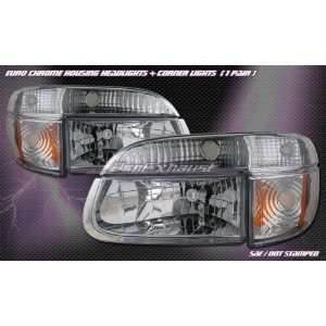 Ford Explorer Headlights Euro Chrome Headlights With Corner 1995 1996