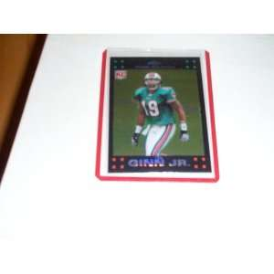 Ted Ginn Jr Rookie 2007 topps chrome refractor football trading card