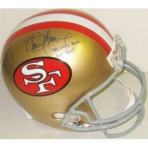 Steve Young Signed San Francisco 49ers Riddell Full Size Throwback