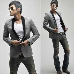 Men's Stylish Casual Slim fit One Button Suit Blazer Coat Jackets