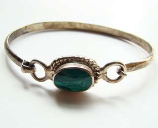 Taxco Mexico Mexican Sterling Silver Malachite Bracelet TL 3