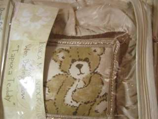 McClintock Tapioca Teddy BEAR Wee Darling Decorative PILLOW TAN NIP