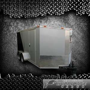 AXLE ENCLOSED ATV CARGO MOTORCYCLE TRAILER DEXTER V NOSE RAMP