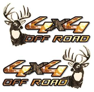 ROAD EXTREME Vinyl Decal Sticker deer hunter hunting truck car graphic