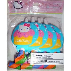 Hello Kitty Cupcake Blow Out Trumpet Party Favor, 8/pkg