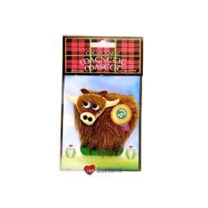 Musical Fridge Magnet Highland Cow Toys & Games