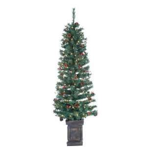 6 Pre Lit Tucson Pine Potted Artificial Christmas Tree