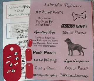 Scrapbook CHOCOLATE LABRADOR RETRIEVER Dog Kit SMDTS