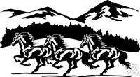 Horse Mountain Equestrian Trailer Truck Sign Decal 14