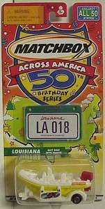50th Birthday State series Louisiana Raft Boat w/trailer with graphics