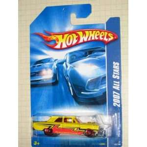 Yellow And Red Chrome Base Collectible Collector Car Mattel Hot Wheels