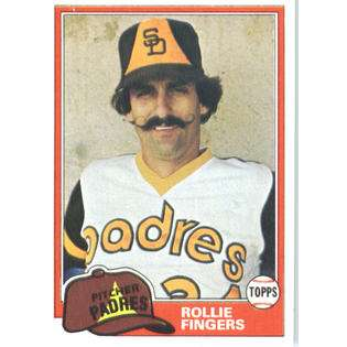 1981 Topps Baseball Card (NrMT Condition) #229 Rollie Fingers San
