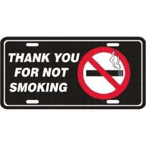 Non Smoking Sign Metal License Plate Tag Sports