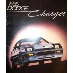 1985 DODGE CHARGER Sales Brochure Literature Book