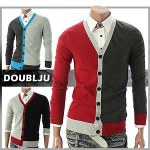 Youstars Mens Casual V neck Button Cardigan Sweater (019Z)