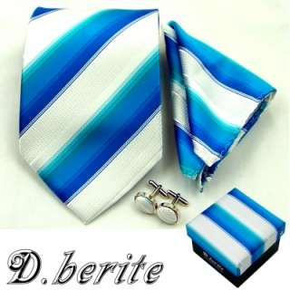 MENS NECK TIE NECKTIES HANKY CUFFLINK GIFT BOX SET TZ30