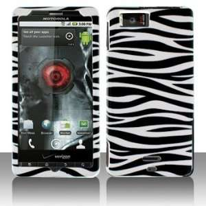 Droid X MB870 Droid X2 Black White Zebra Case Cover Protector (free