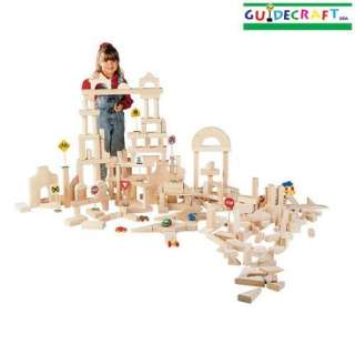 New Wooden Kids Wood Building Unit Blocks 86 Piece Set