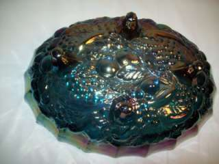 Vintage Indiana Glass Harvest Grape Carnival Glass Footed Bowl/Center