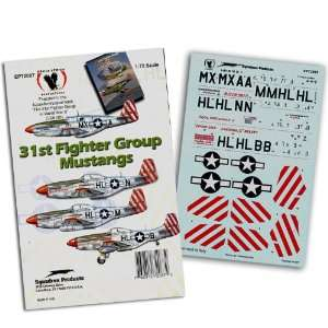 31st Fighter Group P 51 Mustangs (1/72 decals) Toys