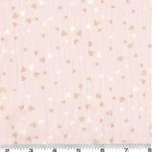 45 Wide My Sweet Baby Hearts Pale Pink Fabric By The