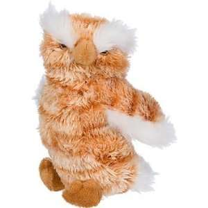 Plush Barnyard Owl Dog Toy, 7 L X 3 W Pet