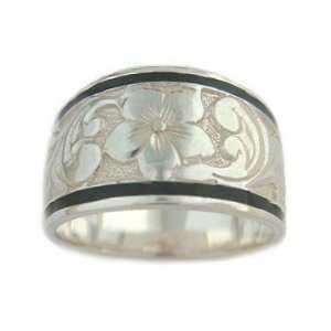 Hawaiian Heirloom Jewelry Sterling Silver Tapered Ring Jewelry