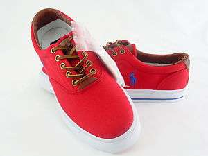 POLO RALPH LAUREN VAUGHN RL2000 CANVAS/LEATHER RED