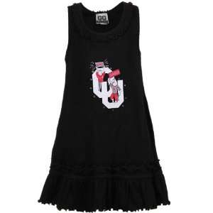 Toddler Girls Black Sooner Jr. Ruffle Tank Dress