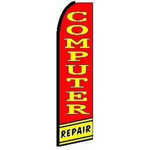 Computer Repair R/Y Extra Wide Swooper Feather Business