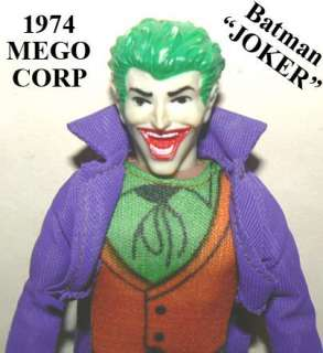 VINTAGE 1974 MEGO BATMAN JOKER FIGURE DC COMICS SUPER HERO ACTION