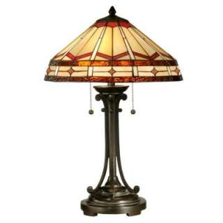 Tiffany JewelMission Collection 24.5 in Antique Bronze Table Lamp