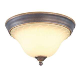 Hampton Bay Tuscan Bronze 2 Light Flushmount GAX8012A 2 at The Home