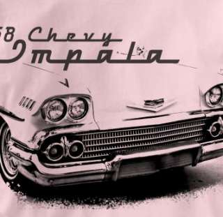 Chevy Impala 1958 Classic PINK Chevrolet Car T Shirt XL