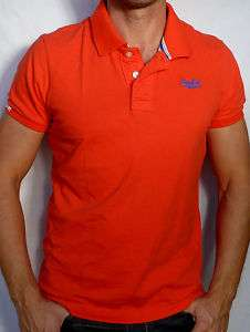Superdry Mens Jersey POLO Tee Shirt NEW Orange   XL
