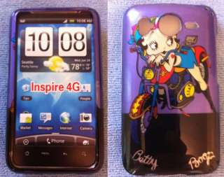 Purple Betty Boop Case LCD Screen Cover HTC Inspire 4G
