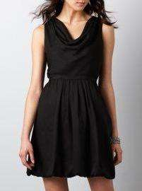 ANN TAYLOR LOFT DRAPE DRESS NWT 0 8 16P $79 BLACK