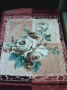 KING BLANKET PINK FLOWER SUPER SOFT NEW