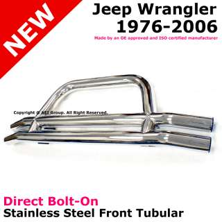 Wrangler CJ5 CJ7 76 06 Front Tubular Bumper Bar Stainless Steel Tube