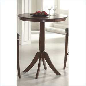 Hillsdale Plainview Bar Height Bistro Brown Finish Pub Table