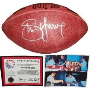 Steve Young Autographed NFL Game Football  Sports
