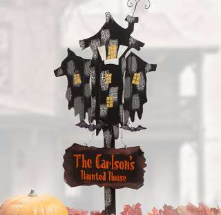 Haunted House 4 Ft. Personalized Yard Stake   Decorations & Props