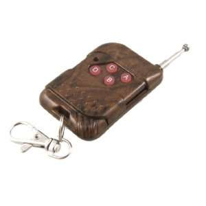 Brown Sliding Cover 4 Keys Keychain Remote Control for Garage Door