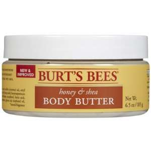 Burts Bees Honey, Almond & Shea Body Butter, 6.5 oz (Quantity of 3)