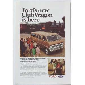 1970 Ford Club Wagon Train Railyard Print Ad (212)