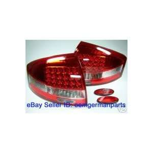 Audi S6 Led Tail Lights Euro Clear Red LED Taillights 1998