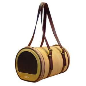 COUTURE Collection   PeTOTe Madison Tan Leather Pet Carrier  Size