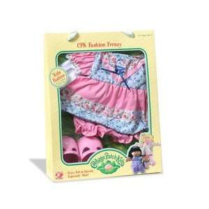 Cabbage Patch Kids Pink, White and Blue Dress with Pink